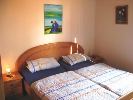 Ferienhaus Schlafzimmer Holtgast